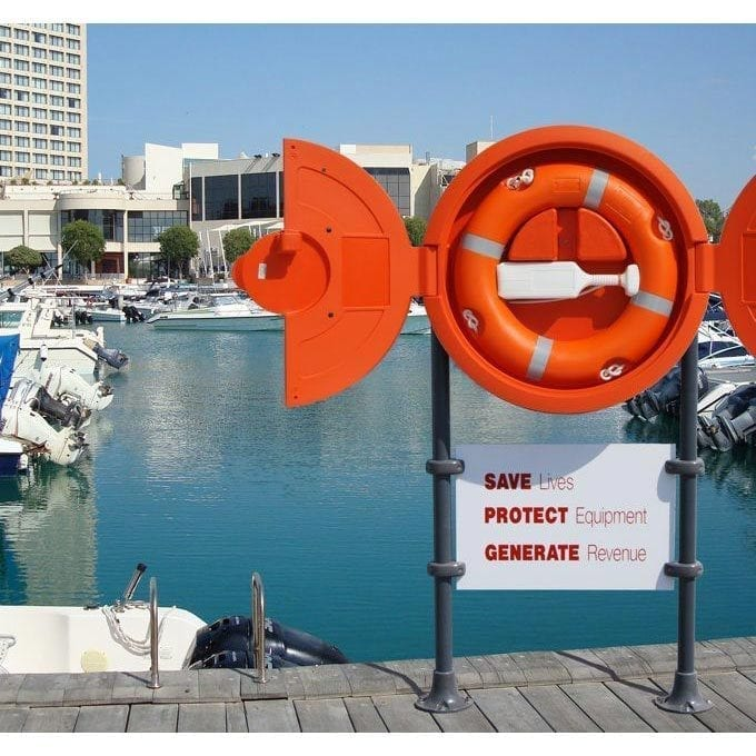 Intergrated Lifebuoy Housing With Sign